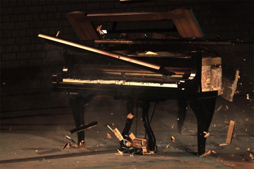 Through Plumes Thicket Asphalt Sawdust